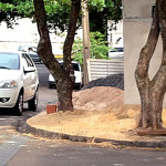 Material para construção na calçada ou na rua são permitidos?